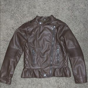 Brown Leather jacket from urban outfitters